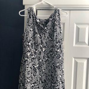 Black and white paisley dress NWT!